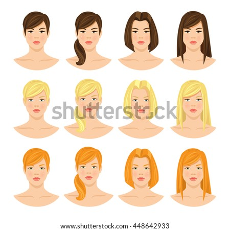 Free Vector Women Hairstyles Download Free Vector Art Stock
