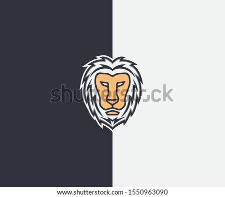 face of lion albino logo