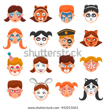 face paint for children icons