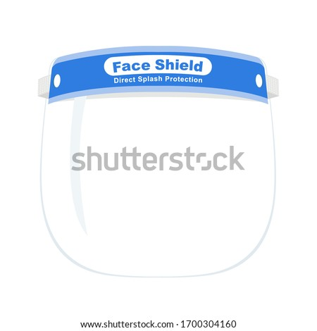 Face Shield hat. Transparent Safety Full Face Cover Personal care, Front view