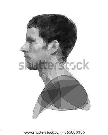 face side profile of a man made