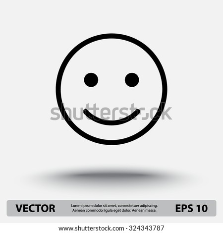 stock-vector-face-sign-icon-vector-illustration-flat-design-style