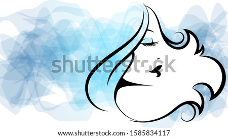 face silhouette of a beautiful