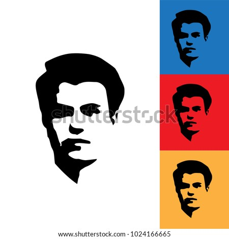 face silhouette of young man