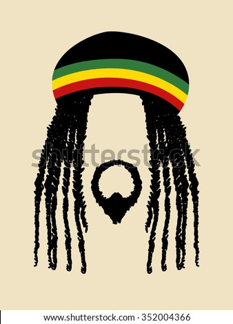 Shutterstock Face symbol of a man with dreadlocks hairstyle for rastafarian and reggae theme