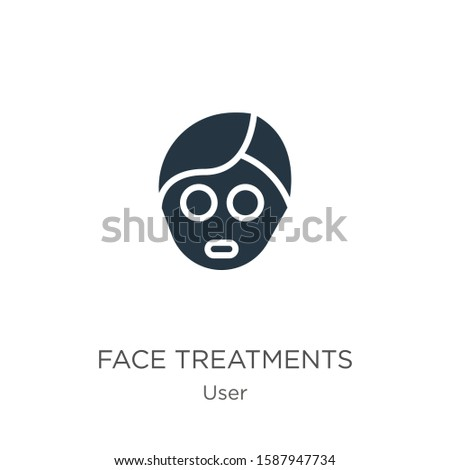 Face treatments icon vector. Trendy flat face treatments icon from user collection isolated on white background. Vector illustration can be used for web and mobile graphic design, logo, eps10