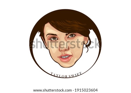face vector illustration for a