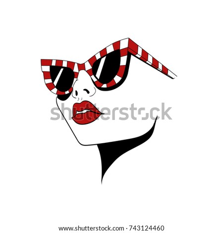 face with striped glasses