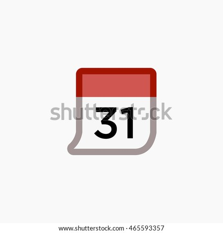 Facebook Calendar Icon Vector. Date Graphic. Social Media User Interface Sign. Events Flat Illustration. FB UI Symbol. 2016 Design
