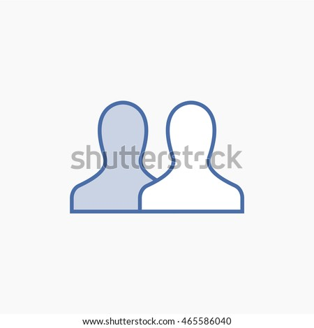 Facebook friends Icon Vector. social media User Interface Sign, person Flat Illustration. FB people UI Symbol. 2016 Design