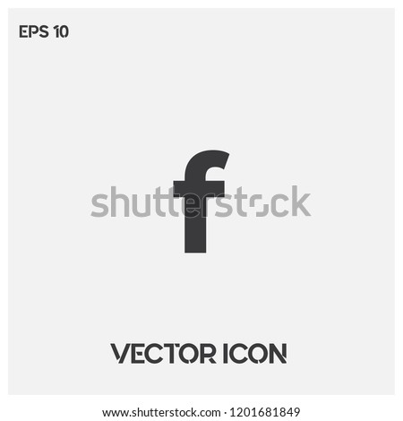 Facebook icon vector illustration.Facebook social media vector icon.