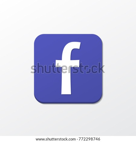 facebook icon with shadow