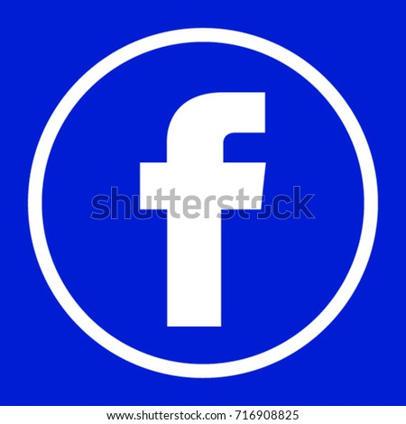 facebook logo round for