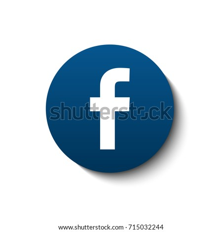Facebook logotype. Vector illustration. Social network icon.