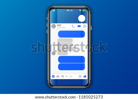 facebook messenger. mobile application interface