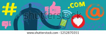 Facebook, Posting, One Person, Smart Phone, Social Media Symbols, Wide Format, Social Media Addiction, Silicon Valley, e-marketing, digital marketing, Insta Follower, Facebook likes, digital marketing