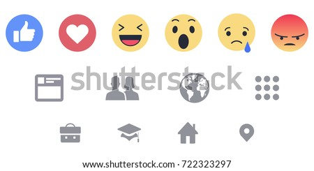 facebook reactions icons web