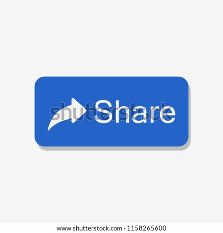 Facebook. Share icon. Blue button share. Vector illustration. EPS 10.