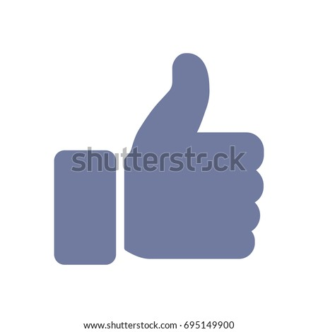Facebook thumbs up icon. Modern design. Vector illustration. EPS10.