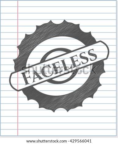 Faceless pencil strokes emblem