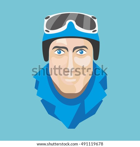 faces skier or snowboarder made