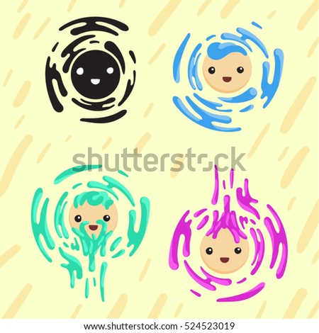 faces with colorful splashes
