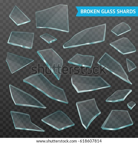 faceted thick glass broken