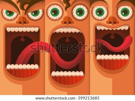 facial expressions vector