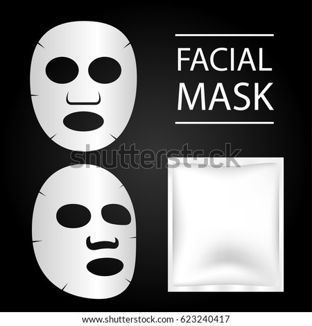 facial mask and blank package