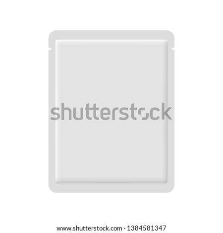 Facial sheet mask white blank realistic mockup