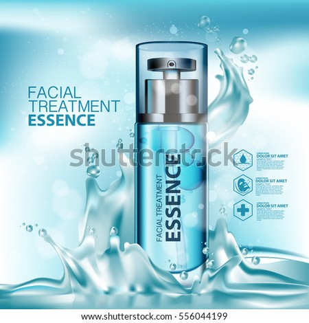 Facial Treatment Essence Skin Care Cosmetic. #556044199