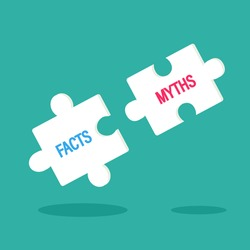Fact or Myth concept. Clipat image.