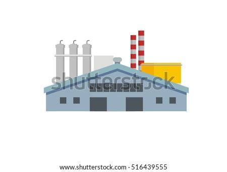 factory complex simple illustration