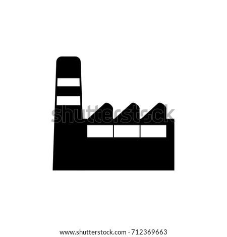 Factory icon , black sign design