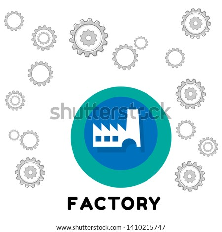factory icon. factory - graphic design concept.
