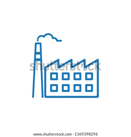 Factory icon. Factory symbol design template. Can be used for web and mobile UI. Vector illustration isolated on white background