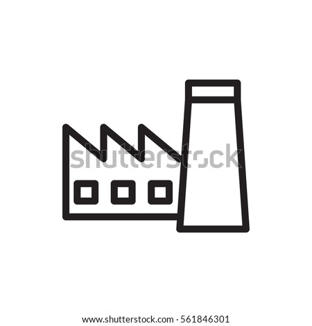 factory icon illustration isolated vector sign symbol