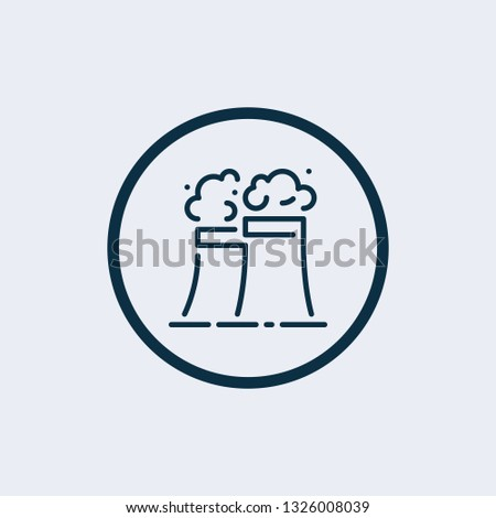 Factory icon isolated on white background. Factory icon in trendy design style. Factory vector icon modern and simple flat symbol for web site, mobile, logo, app, UI. Factory icon vector illustration