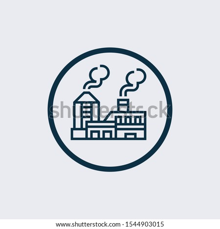 Factory icon isolated on white background. Factory icon in trendy design style. Factory vector icon modern and simple flat symbol for web site, mobile, logo, app,