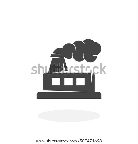 factory icon isolated on white