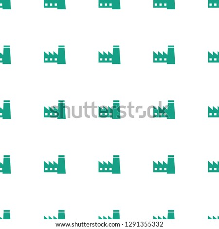 factory icon pattern seamless white background. Editable filled factory icon. factory icon pattern for web and mobile.