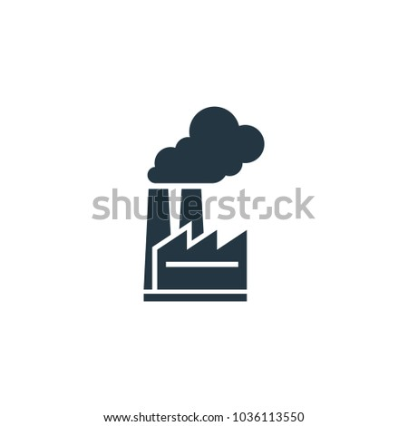 Factory icon. Simple element illustration. Factory symbol design template. Can be used for web and mobile UI.