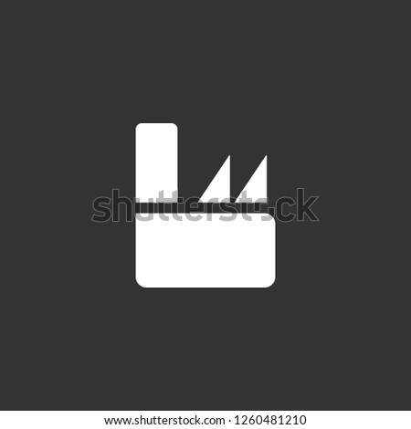 factory icon vector. factory sign on black background. factory icon for web and app