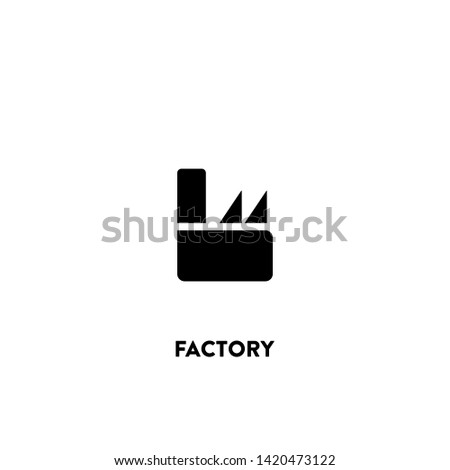 factory icon vector. factory sign on white background. factory icon for web and app