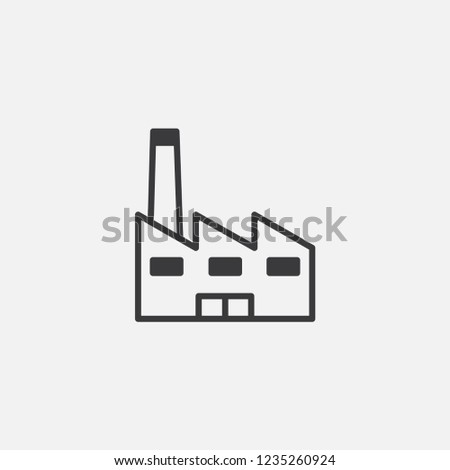 factory icon vector. factory symbol. Linear style sign for mobile concept and web design. Factory symbol illustration. Pixel vector graphics - Vector.