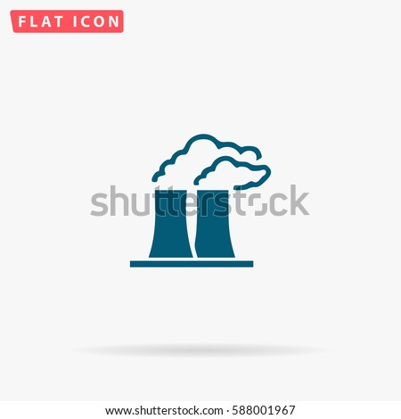 factory icon vector flat