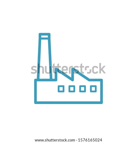 Factory icon. Vector illustration can be used for topics industry, construction, chemical, power energy