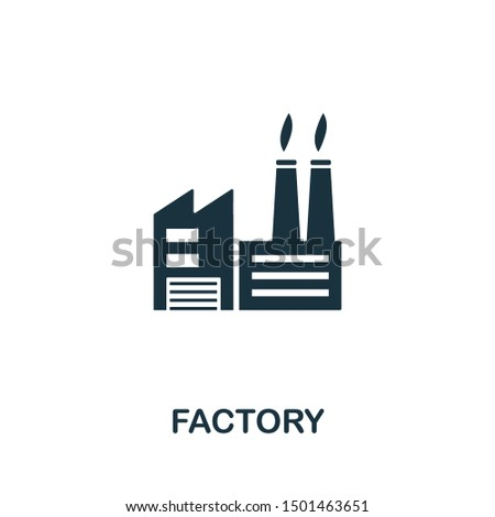 Factory icon vector illustration. Creative sign from buildings icons collection. Filled flat Factory icon for computer and mobile. Symbol, logo vector graphics.