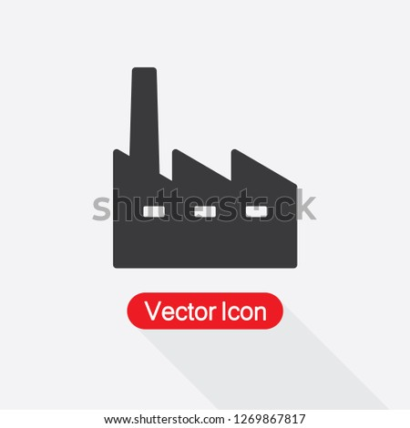 Factory Icon Vector Illustration Eps10