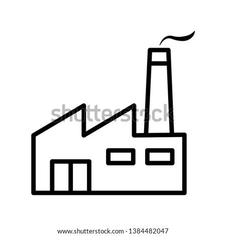 Factory Icon Vector Illustration Logo Template